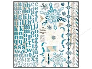 Bo Bunny Sticker Woodland Winter Cardstock Combo