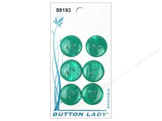 JHB: JHB Button Lady Buttons 5/8 in. Green #99193 6 pc.
