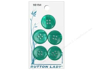 JHB: JHB Button Lady Buttons 3/4 in. Green #99194 5 pc.