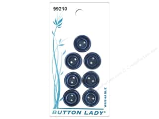 JHB Button Lady Buttons 1/2 in. Navy #99210 7 pc.