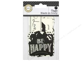 Canvas Home Basics: Canvas Corp Printed Tags Black On Ivory