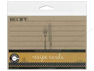 Canvas Corp Recipe Cards 4 x 6 in. Kraft 12 pc.