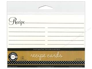 Kitchen $4 - $6: Canvas Corp Recipe Cards 4 x 6 in. Ivory 12 pc.
