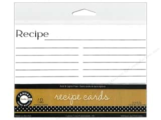 Cards Recipe Cards: Canvas Corp Recipe Cards 4 x 6 in. White 12 pc.