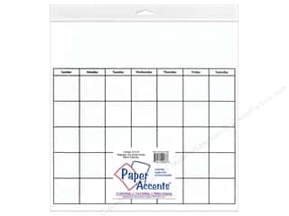 Calendars The Board Dudes Dry Erase Calendar: Paper Accents Magnetic Calendar Page 12 x 12 in. Dry Erase White