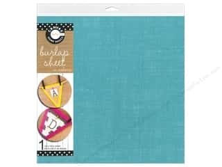 Canvas Corp Sheet 12x12 Burlap Aqua (10 piece)