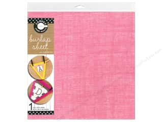Canvas Corp Burlap Sheet 12 x 12 in. Pink (10 piece)