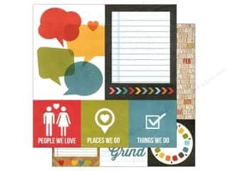 Simple Stories Paper 12x12 Daily Grind Quote/Mats (25 piece)