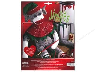 Socks: Janlynn Sock Monkey Kit 21 in. Jingles
