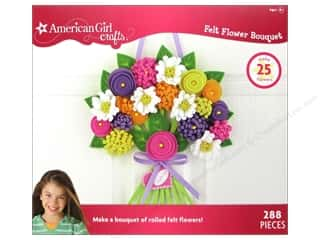 Flowers / Blossoms Kids Crafts: American Girl Kit Felt Flower Bouquet