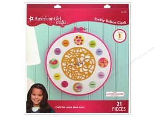 Kids Crafts Hot: American Girl Kit Pretty Button Clock