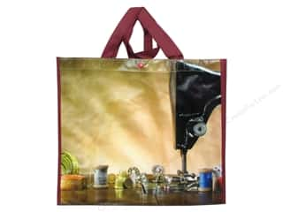 Tote Bag $10 - $15: Tacony Notions Enviro Shopping Tote Burgundy Thread & Machine