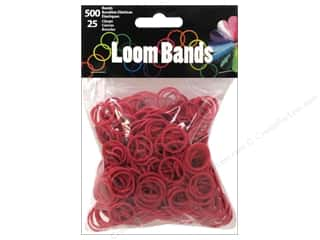 Kids Crafts Burgundy: Midwest Design Loom Band Burgundy 525pc