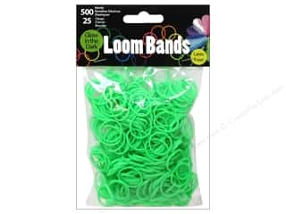 Midwest Design Loom Band Glow In Dark Green 525pc