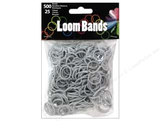 Rubber / Elastic Bands: Midwest Design Loom Band Silver 525pc