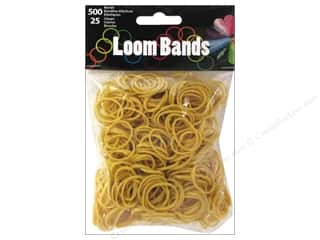 Kid Crafts Brown: Midwest Design Loom Band Light Coffee 525pc