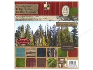 Die Cuts 12 x 12 in. Cardstock Mat Stack The Lodge