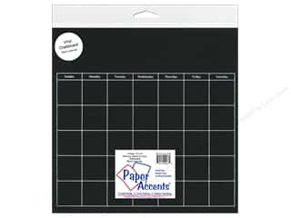 Calendars Books & Patterns: Paper Accents Adhesive Vinyl Calendar Page 12 x 12 in. Removeable Chalkboard