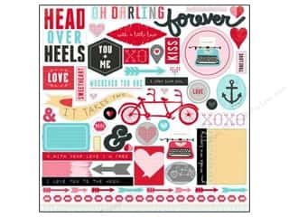 Blue Moon Beads Love & Romance: Echo Park Sticker 12 x 12 in. Head Over Heels Collection Element (15 sets)