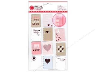 Adhesive Tabs Captions: Martha Stewart Sticker Love Notes Notebooks Mini
