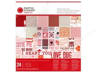 "Love & Romance paper dimensions: Martha Stewart Paper Pad Love Notes 12""x 12"""