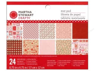 Love & Romance paper dimensions: Martha Stewart Mat Pad Love Notes