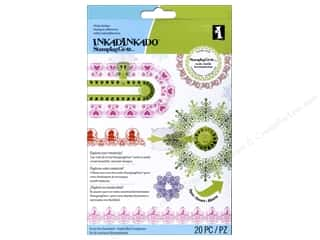 Clearance Blumenthal Favorite Findings: Inkadinkado Cling Stamp Stamping Gear Set Holiday