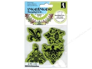 Stamps Stamp Sets: Inkadinkado Cling Stamp Stamping Gear Holiday Gift Wrap Patterns