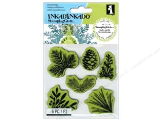 Window Cling Design Clearance Crafts: Inkadinkado Cling Stamp Stamping Gear Pinecones