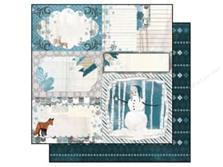 Bo Bunny Paper 12x12 Woodland Winter Scarf (25 piece)