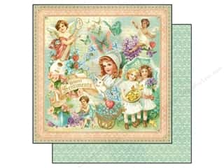 Spring Printed Cardstock: Graphic 45 12 x 12 in. Paper Sweet Sentiments (25 sheets)