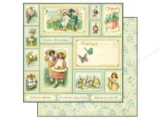 Spring Printed Cardstock: Graphic 45 Paper 12x12 Sweet Sentiments Easter (25 piece)