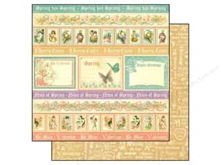 Captions Spring: Graphic 45 Paper 12x12 Sweet Sentiments Spring Has Sprung (25 pieces)