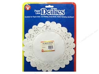 Paper Doilies: Hygloss Paper Lace Doilies Round 10 in. White 36 pc.