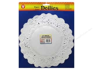 Paper Doilies: Hygloss Paper Lace Doilies Round 12 in. White 36 pc.