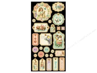 button: Graphic 45 Die Cut Sweet Sentiments Chipboard 1