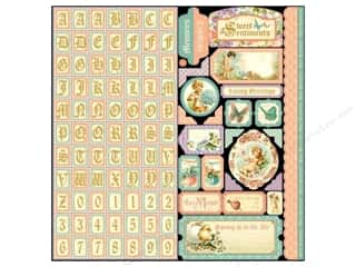 Weekly Specials ABC & 123: Graphic 45 Sticker Sweet Sentiments
