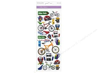 Scrapbooking & Paper Crafts Burgundy: Multicraft Sticker Paper Craft Glitter Bike Path