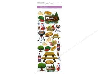 Scrapbooking & Paper Crafts New: Multicraft Sticker Paper Craft Glitter Picnic Time!