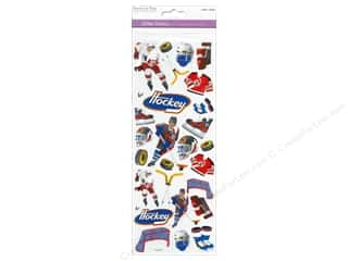Scrapbooking & Paper Crafts Burgundy: Multicraft Sticker Paper Craft Glitter Hockey Heaven