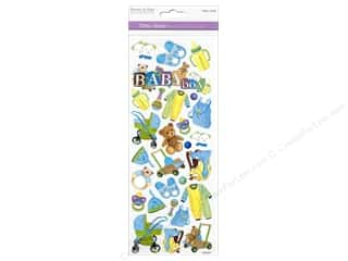 Charms Scrapbooking & Paper Crafts: Multicraft Sticker Paper Craft Glitter Baby Boy