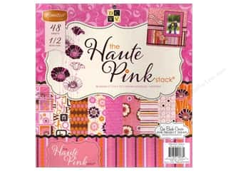Die Cuts With A View 12 x 12 in. Cardstock Stack Haute Pink