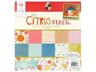 Die Cuts 12 x 12 in. Cardstock Stack Citrus #2