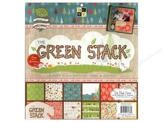 Die Cuts With A View 12 x 12 in. Cardstock Stack Green #2