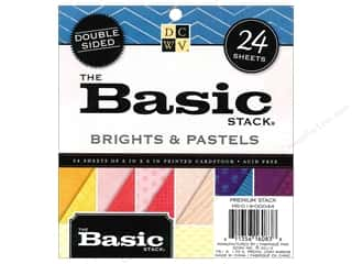 Die Cuts 6 x 6 in. Cardstock Mat Stack Brights & Pastels