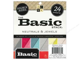 Die Cuts 6 x 6 in. Cardstock Mat Stack Basic Neutrals & Jewels