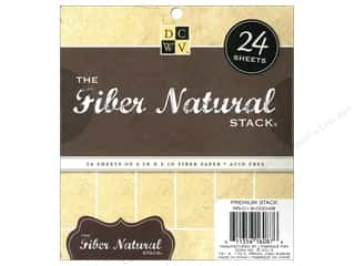 Die Cuts 6 x 6 in. Cardstock Mat Stack Fiber Natural