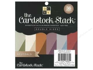 Die Cuts 6 x 6 in. Cardstock Mat Stack Neutrals