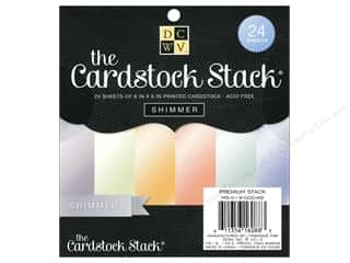 Sale $4 - $6: Die Cuts With A View 6 x 6 in. Cardstock Mat Stack Shimmer