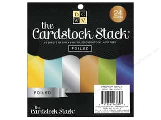 Die Cuts 6 x 6 in. Cardstock Mat Stack Foiled